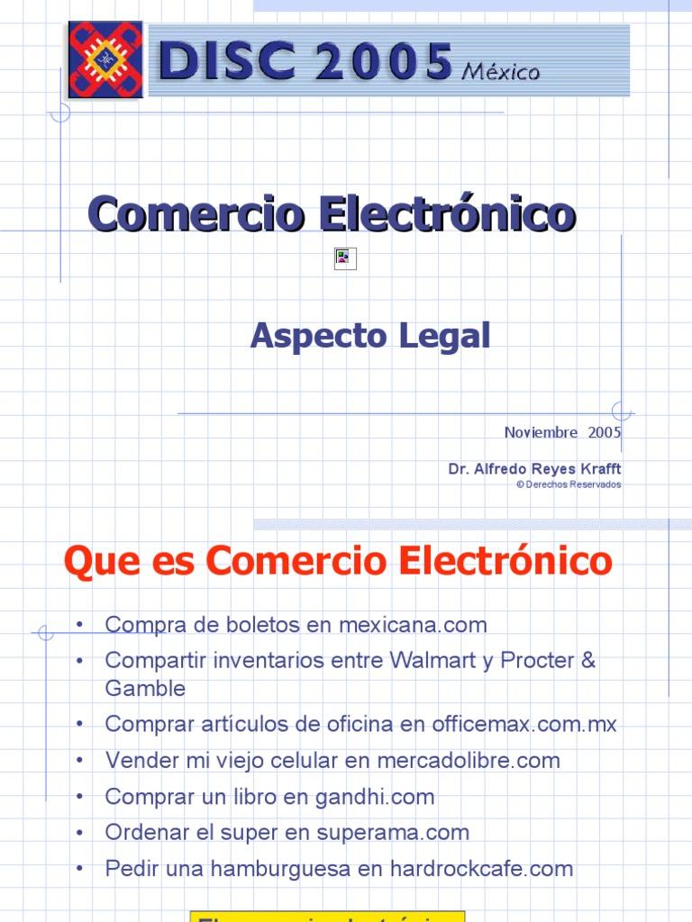 Firma Electronica y Comercio Electronico