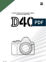 Manual de Utilizare Nikon D40-D40x