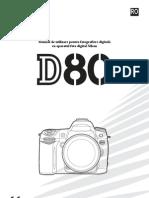 Manual de Utilizare Nikon D80
