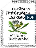 If You Give a First Grader a Dandelion