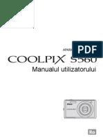 Manual de Utilizare Nikon S560