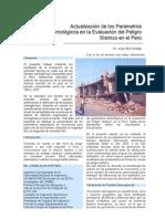 Actualización parámetros de peligro sísmico en el Perú