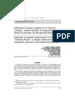 """Indicadores de mejora cognitiva en el """"Proyecto"""