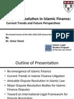 Dispute Resolution in Islamic Finance