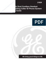 Manual GE Teléfono
