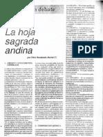 Rocabado Muriel-Koka, la hoja sagrada andina(Revista Debate n°28, 1996)