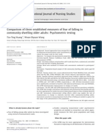 Comparison of Three Established Measures of Fear of Falling in Community-dwelling Older Adults Psychometric Testing