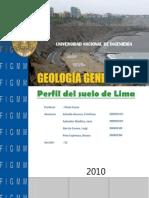 Informe del perfíl del suelo de Lima