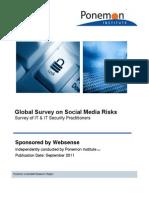 Websense Social Media Ponemon Report