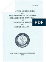 Indian Roads Congress - Speed Breakers - Specification