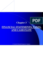 Chapter 3 Financial Statements, Taxes, & Cash Flow