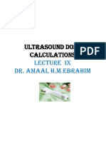 Ultrasound Dose Calculations