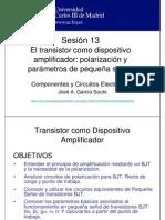 OCW-CCE S13 Transistor BJT Polarizacion y Equivalentes de Pequena Senal