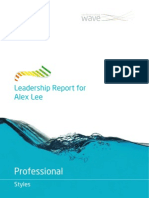 Alex Lee, Professional Styles Leadership Report V2