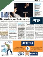 Depressione, ora basta un esame del sangue - Il Resto del Carlino del 12 aprile 2012