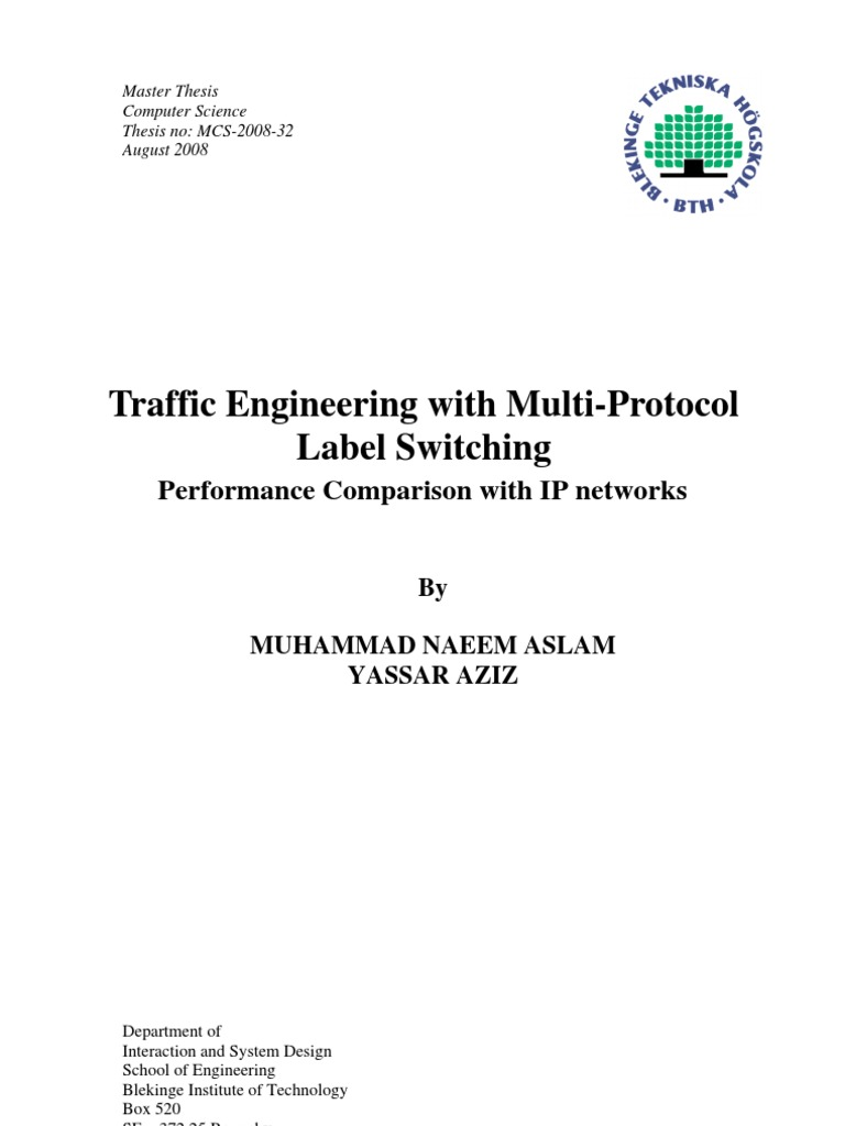 Master thesis routing protocols