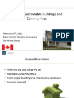 Creating Sustainable Buildings and Communities. Robert Smith