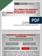 Situacion actual y medidas para afrontar el cambio climático desde el MVCS.Roberto Prieto