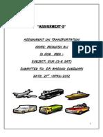Transport Assignment