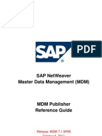 SAP NW MDM 7.1 SP08 Publisher Reference Guide - Oct 2011
