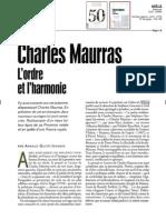 """La revue """"Spectacle du Monde"""" recense le """"Cahier de L'Herne Maurras"""""""