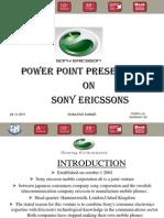 Sony Ericsson Ppt