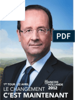 Profession de Foi de Francois Hollande - Election Présidentielle 2012 - Premier Tour