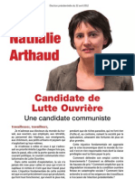 Profession de Foi de Nathalie Arthaud - Election Présidentielle 2012 - Premier Tour