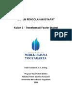 Kuliah 6 Transformasi Fourier Diskret