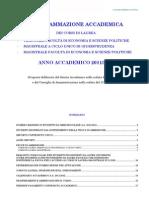 Programmazione Accademica Aa 2011 2012