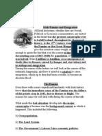Irish Famine and Emigration