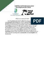 Development for Haiti Newsletter