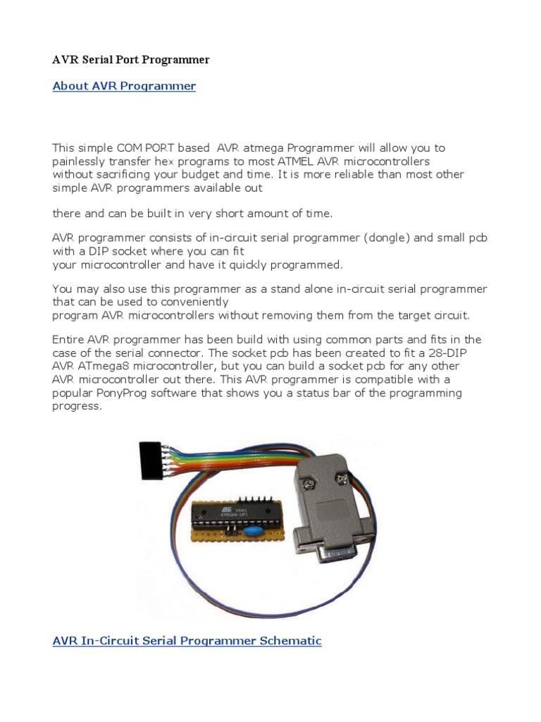 Avr Serial Port Programmer Digital Social Media Technology Atmel Usb Using Atmega8