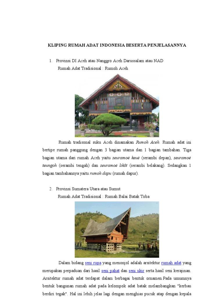 Foto rumah adat di indonesia dan penjelasannya 74