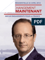 Programme Francois Hollande - Election Présidentielle 2012