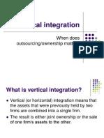 Vertical Integration 2