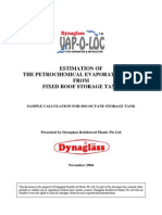 Estimation of the Petrochemical Evaporation Loss