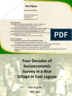 Four decades of socioeconomic studies in a rice village in East Laguna