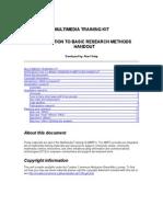 Mmtk Basic Research Methods Handout