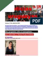Noticias Uruguayas Viernes 13 de Abril de 2012