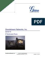 Grandstream Gxv3175 User Manual