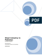 Analysis of Steel Industry in Pakistan