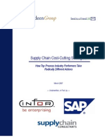 Supply Chain Cost-cutting Strategies -- Recommendations Included