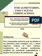 Aditivos Alimentarios Usos y Nuevas Codificaciones