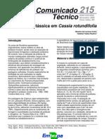 Adubação Potássica em Cassia rotundifolia