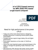 Development of CPLD Based Memory Controller for MPC 603E PPC Based Single Board Computer