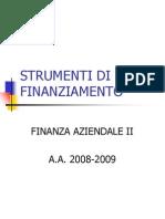 Strumenti Di Finanziamento