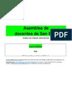 Cartel Asamblea San Blas 16 Abril