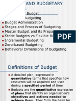 Budget and Budgetary 0control