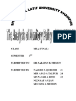 Monetory Policy of SBP 06 & 07 Analysis